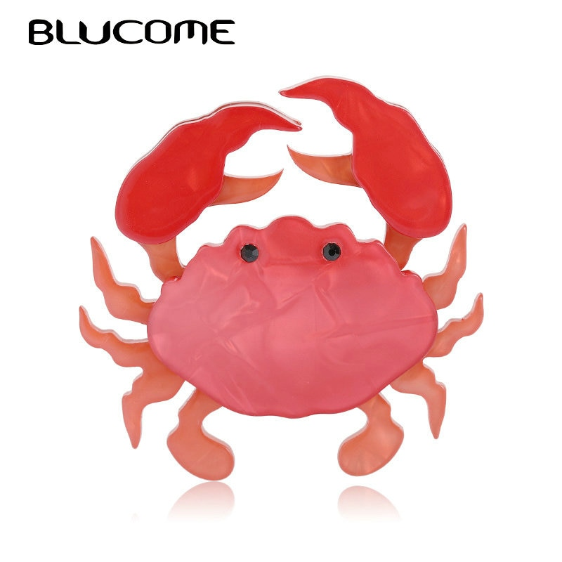 aliexpress.com - Blucome Acrylic Black Eye Red Crab Brooches For Women Kids Handmade Christmas Party Gifts Brooch Pins Hats Dress Accessory