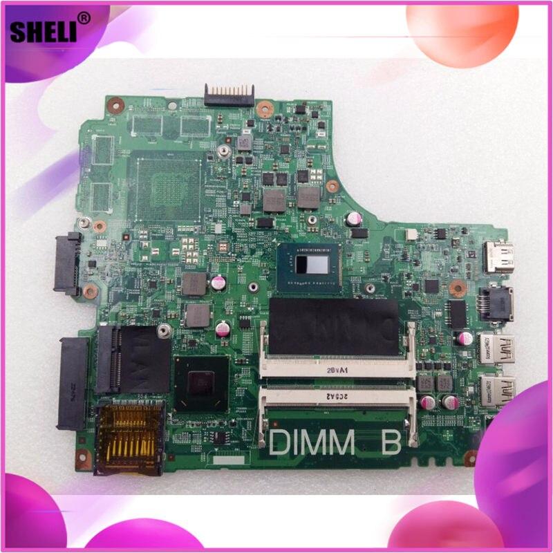 SHELI CN-0FYRN2 0FYRN2 FYRN2 para Dell 2421 3421 5421 placa base I3-3227U DNE40-CR