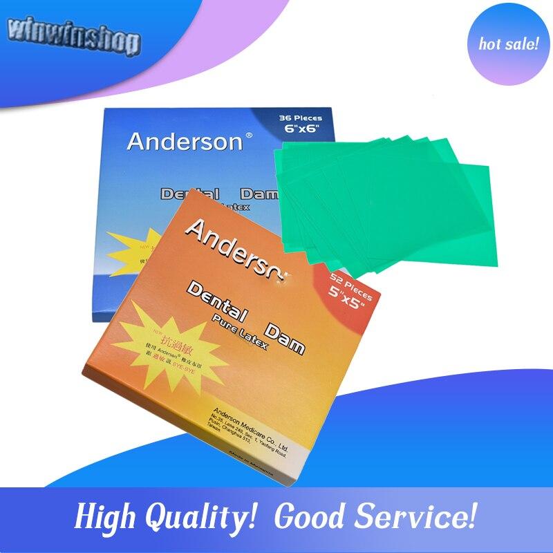 1 קופסא של באיכות גבוהה טהור לטקס גומי שיניים סכר אנטי אלרגי סכר קטן 52 או גדול שיניים סכר 36