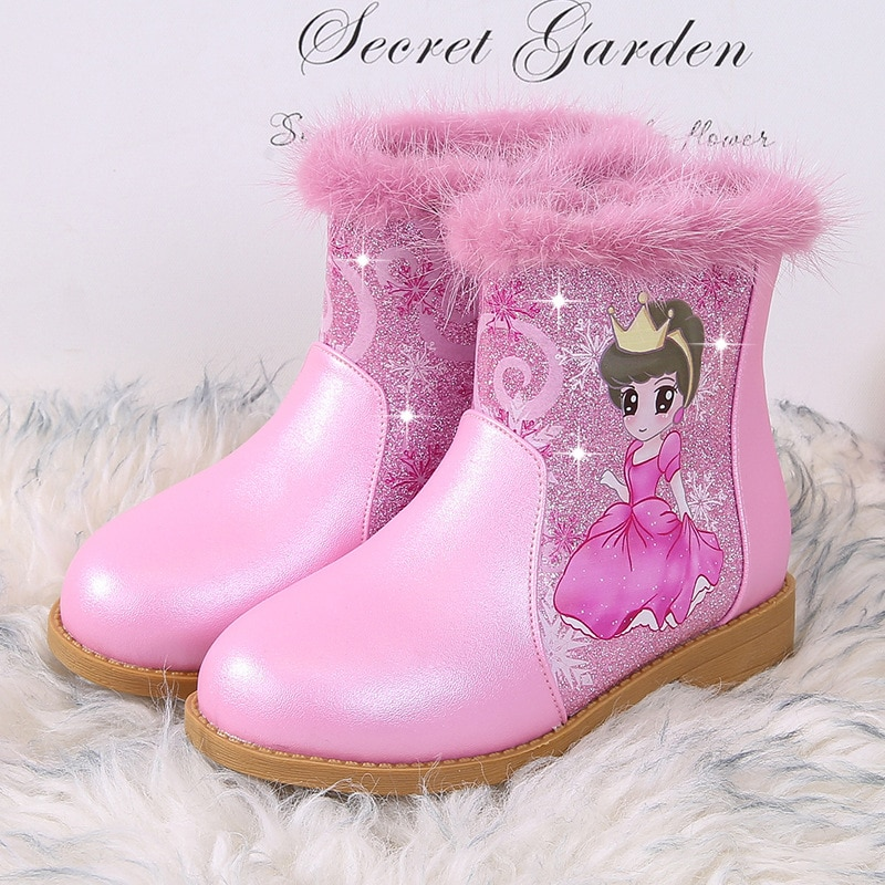 Girls' boots children Princess boots children single shoes Pink Party shoes Christmas gifts 5-6-7-8-9 years old Botas femininas enlarge