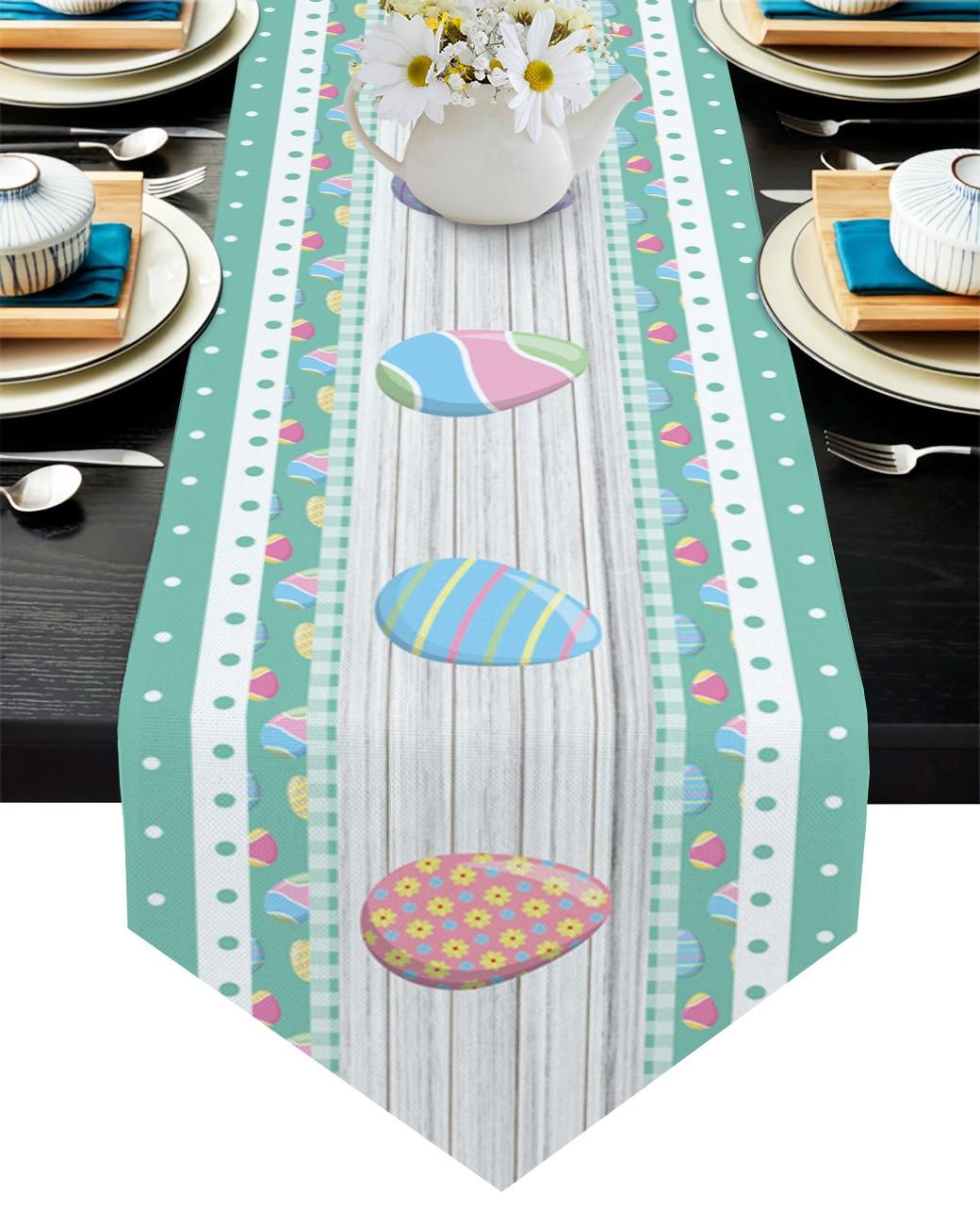 مفرش مائدة متقلب مع بيض عيد الفصح ، مفرش مائدة مزخرف ، للكيك ، الزفاف ، طاولة الطعام
