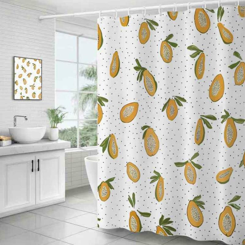 DUNXDECO занавеска для душа Ванная комната Водонепроницаемый Cortinas современные свежие фрукты персик печати полиэстер ткань Ridea художественные украшения