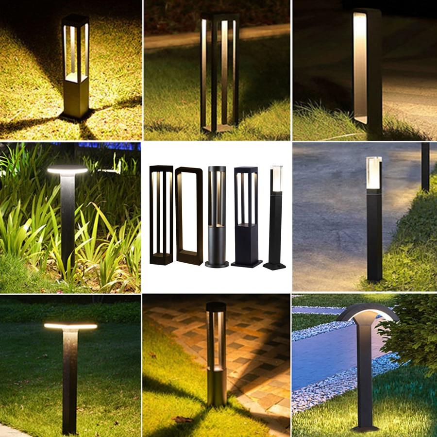 الحديثة بسيطة في الهواء الطلق مصباح حديقة مقاوم للماء الألومنيوم حديقة الحديقة الأعمدة أضواء فيلا فناء المشهد مصباح العمود