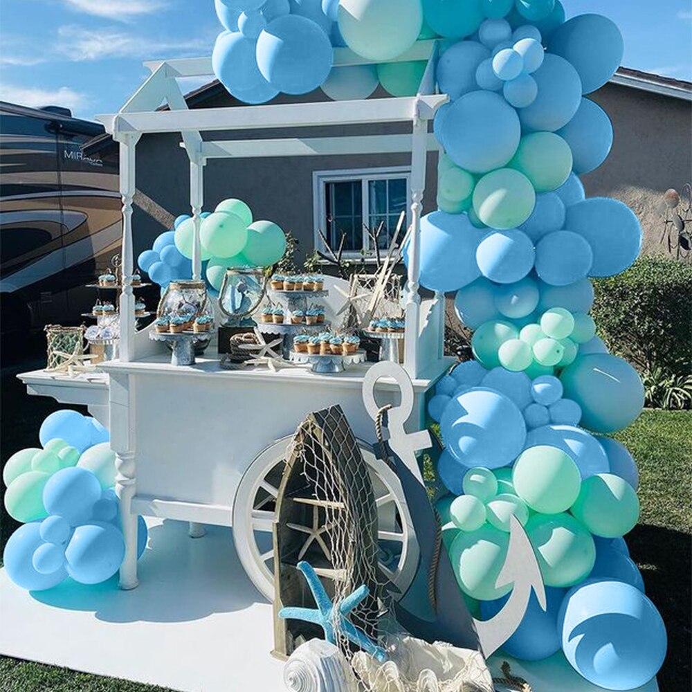 118 Pcs Blue Balloon Garland Arch Latex Balloons Chain Set Supplies Wedding Birthday Party Decoration Summer Decora