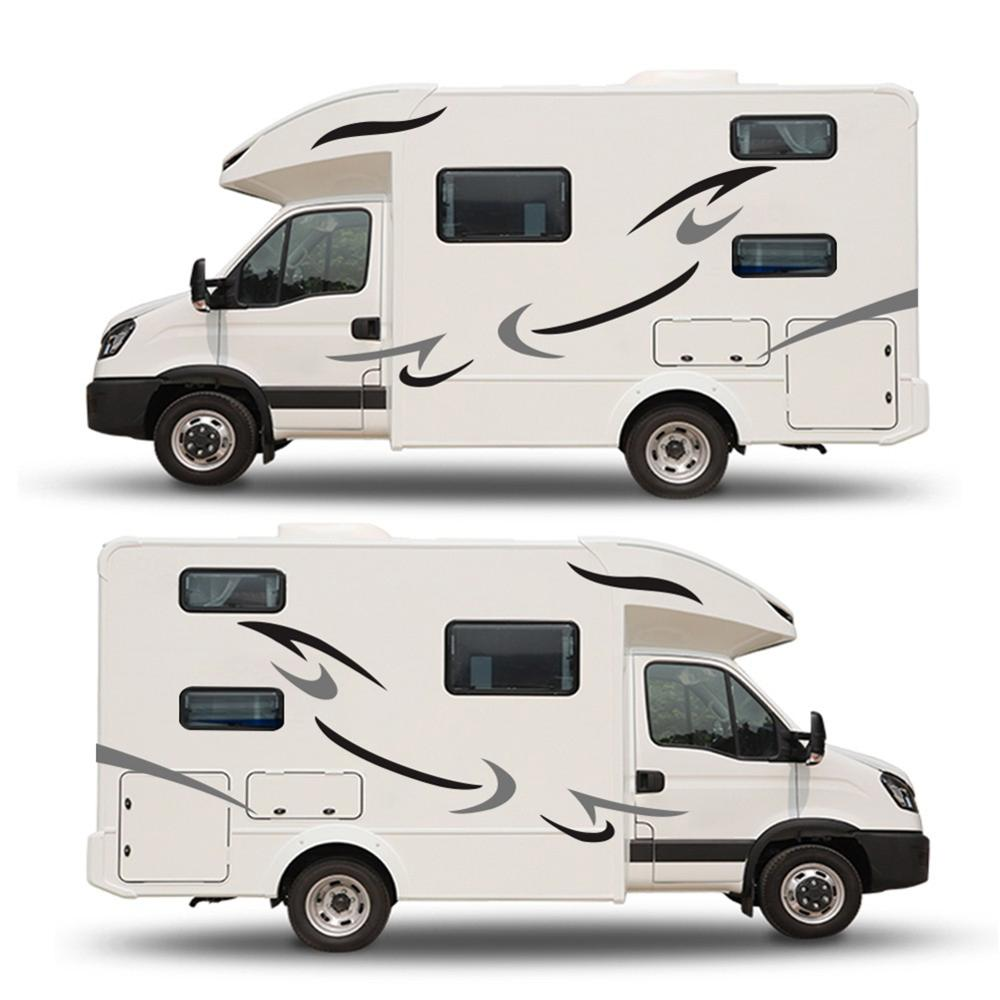 Новые автомобильные полосы виниловые графические наклейки для автофургона путешествия трейлера кемпера фургона для поверхности вашего ав...