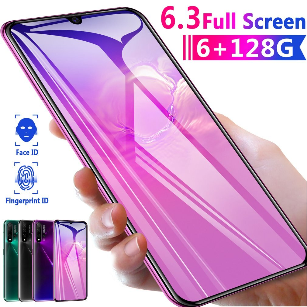 Smartphones 6.3inch N5 Pro 1G+16G Dual Sim Card 16MP Face Unlocking Wifi GPS Andriond 4G LTE CellPhone 4800Mh enlarge