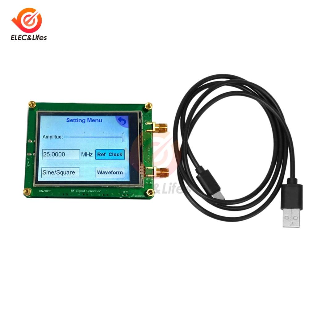 شاشة كاملة تعمل باللمس مصدر إشارة RF 35-4400 متر ADF4350 ADF4351 مولد إشارة رقمية موجة/نقطة تردد الاجتياح الكمبيوتر السيطرة عليها