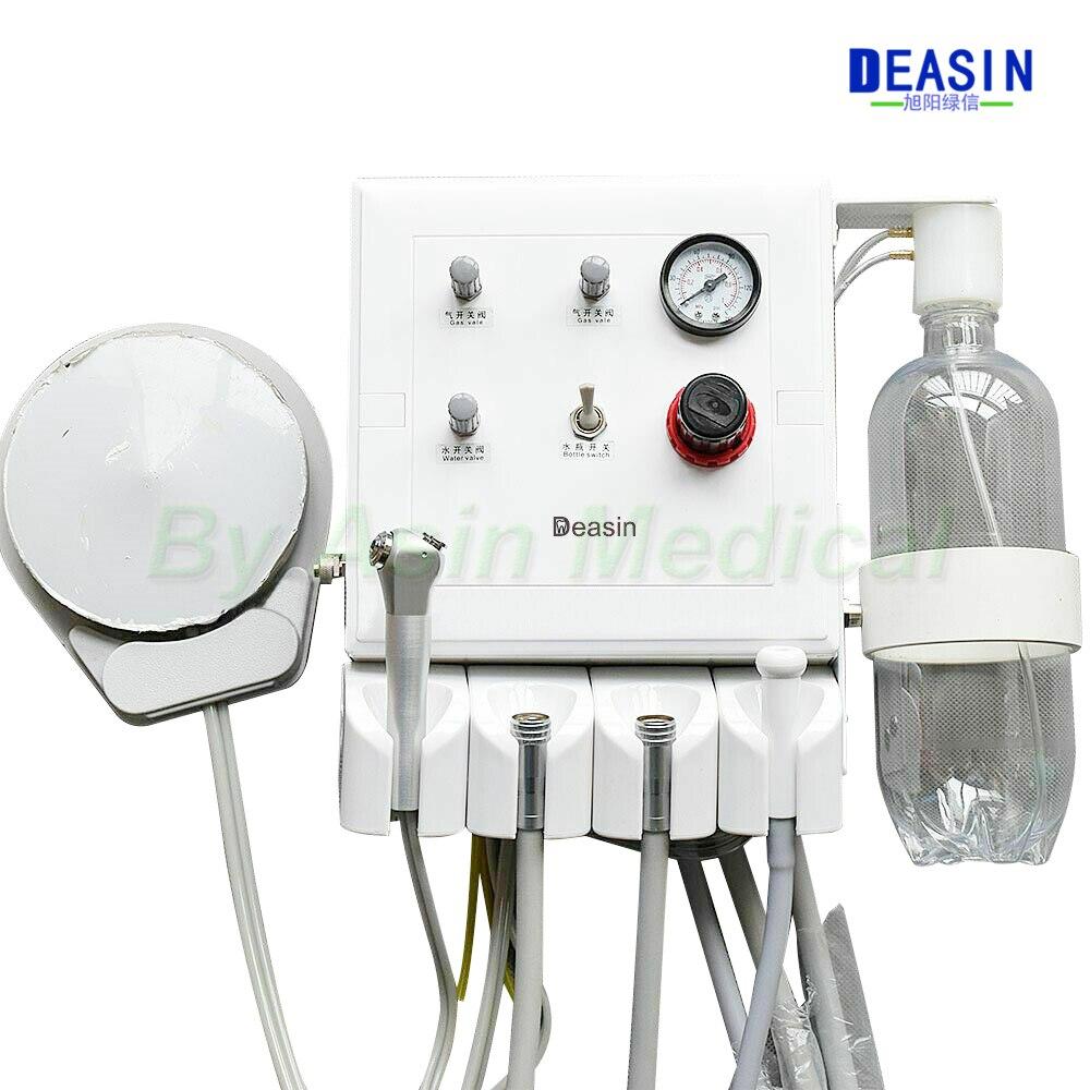مختبر الأسنان المحمولة وحدة ضعيفة شفط اثنين التوربينات أنابيب وحدة لضاغط الهواء 3 طريقة القش