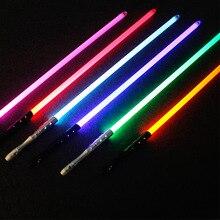Alta qualidade star wars sabre de luz laser espada jedi sith luke skywalker vader rey armas sabre luz brinquedos cosplay com som
