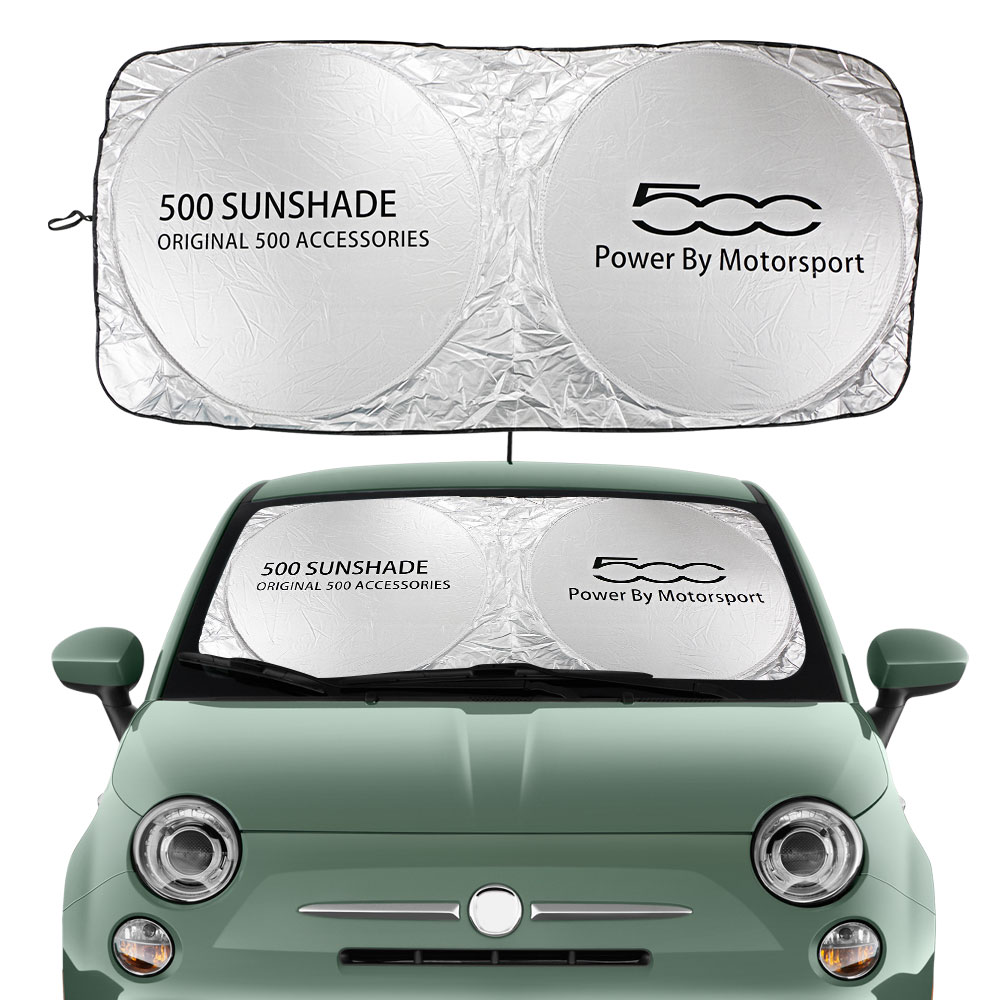 Car Windshield Sun Shade Cover For Fiat 500 Abarth Trim 1.4L Turbo X Sport Auto Accessories Blocks UV Rays Sun Visor Protector