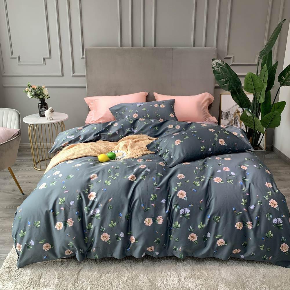 Svetanya/набор постельных принадлежностей из египетского хлопка с цветочным принтом и шелкографией в скандинавском стиле, постельное белье ко...
