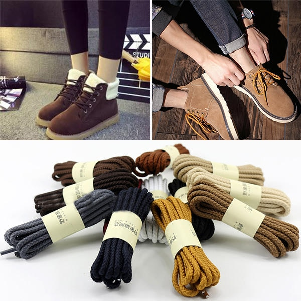 Round Shoelaces Unisex Fashion Casual Sneaker Canvas Leather Shoe Laces High Quality Red Black Yello