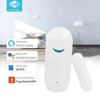 Smart WiFi Door Sensor Door Window Open Detector Home Security Notification Alerts Tuya APP Compatible With Alexa Google Home