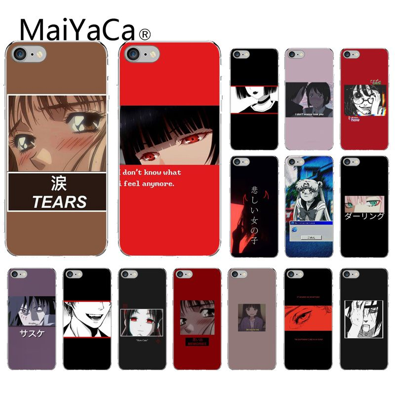 MaiYaCa Sad японский аниме эстетическое покрытие мягкий чехол для телефона iPhone 11 pro max 5 5Sx 6 7 7plus 8 8Plus X XS MAX XRs