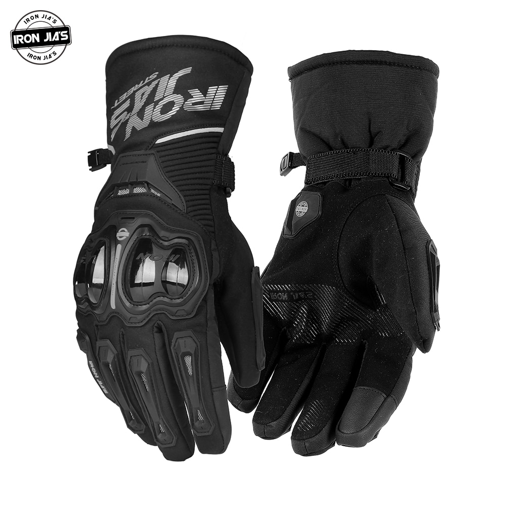 IRON JIA'S Motorcycle Gloves Winter Waterproof Windproof Touch Screen Moto Protective Gear Motocross Motorbike Riding Gloves