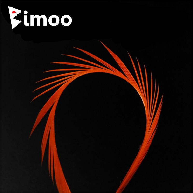 Bimoo 12pcs 12 Color Stripped Goose Biots Feather Fly Tying Material for Nymph Lava Flies Split Tail Wing Case Antennae
