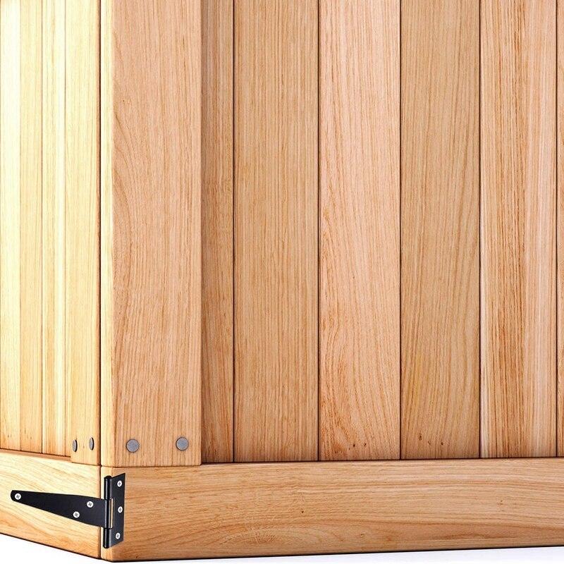 6 PCS 4 Inch T-Strap Hinges Rustic Gate Strap Hinge Rustproof Gate Door Black Hinges for Windows, Fence and Barn Gates