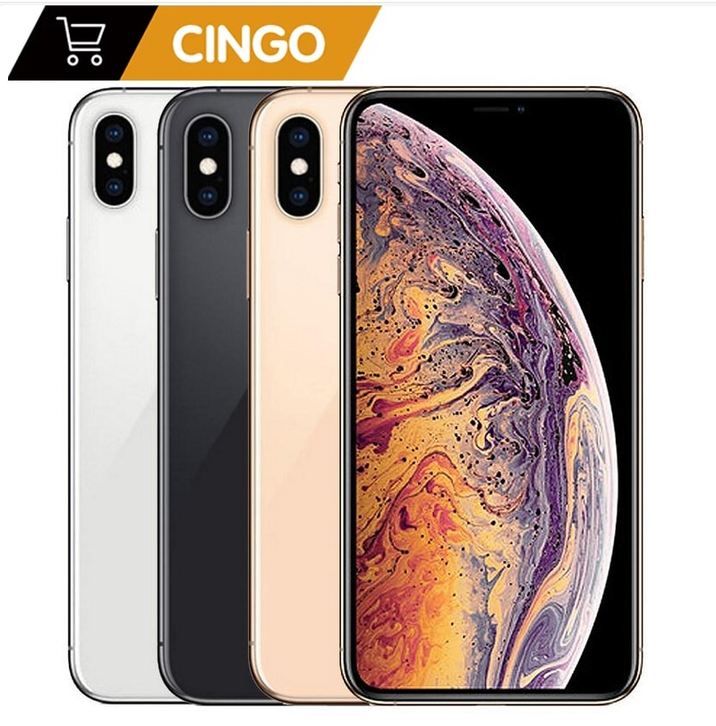 Перейти на Алиэкспресс и купить Оригинальный разблокированный Apple iphone XS MAX 4G RAM 64gb/256gb ROM A12 iphonexs iphonexsmax 2658mAh iphone xs