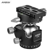 Andoer D 40 Профессиональный мяч с двойной головкой CNC низкий центр тяжести поддержка тонкой настройки для штатива монопод DSLR камеры ILDC