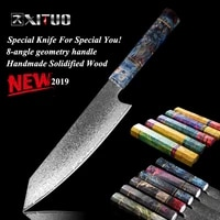 xituo damascus stainless steel pro cooking tools chef kitchen knife 8 inch cleaver knife japanese damascus meat salmon slicing k