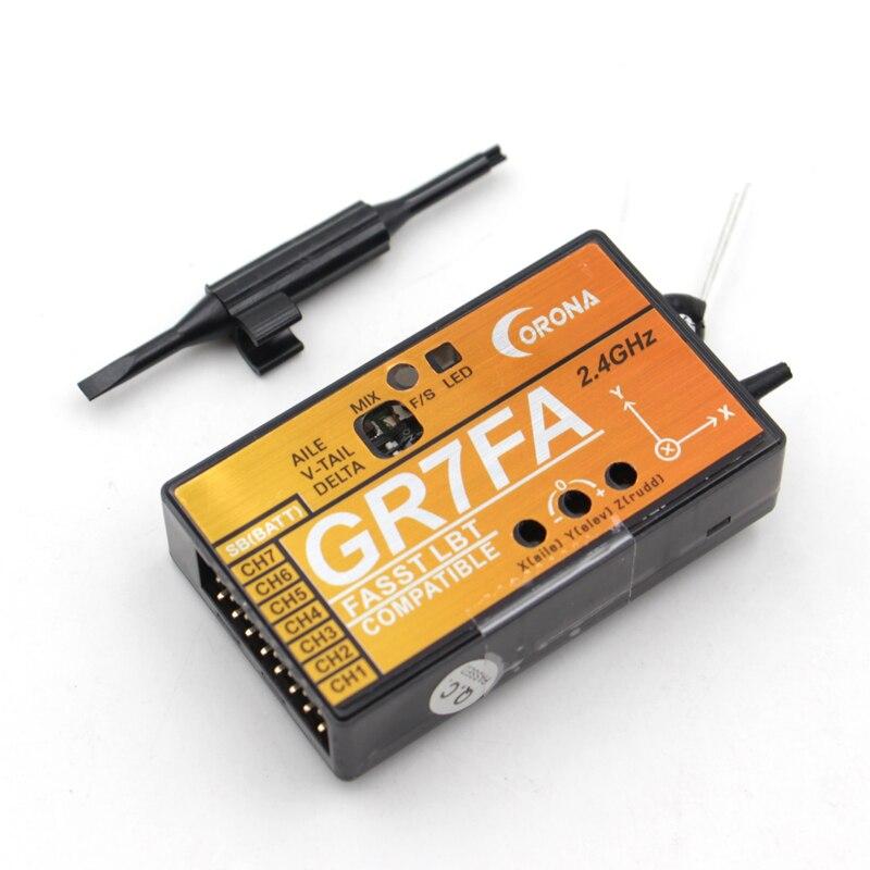 CORONA GR7FA 7CH S. BUS Empfänger Mit 3X Gyros Kompatibel Futaba FASST Sender Für Feste flügel FPV Flugzeug