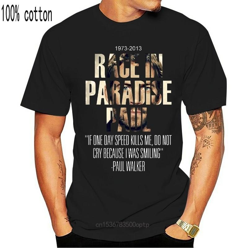New Umokon Women's Race in Paradise Paul Fast and Furious Paul Walker T-Shirt