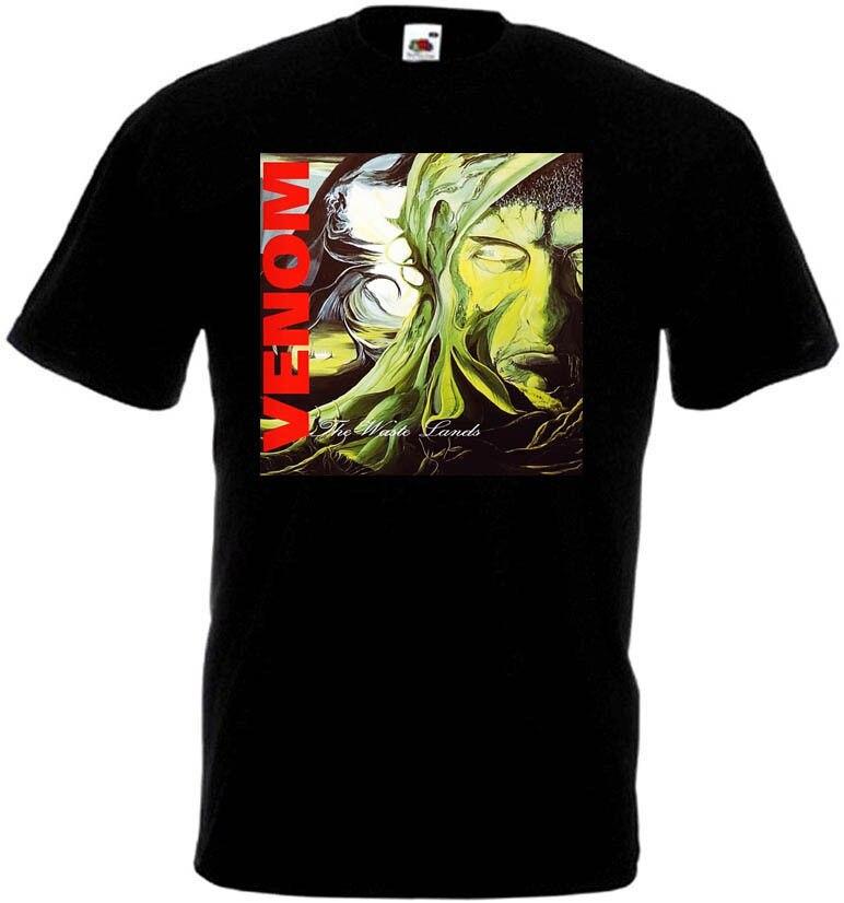 Venom The Waste Lands camiseta negra Metal basura todas las tallas S-3XL alta calidad personalizado impreso Tops Hipster camisetas