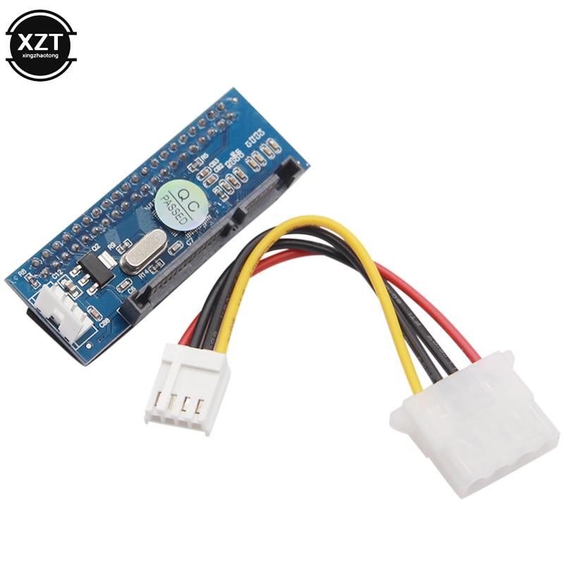 SATA IDE Adapter 40 Pin IDE to SATA Connector 3.5 HDD IDE Hard Disk DVD Burner Adapter Converter With 7Pin-SATA Data Cable