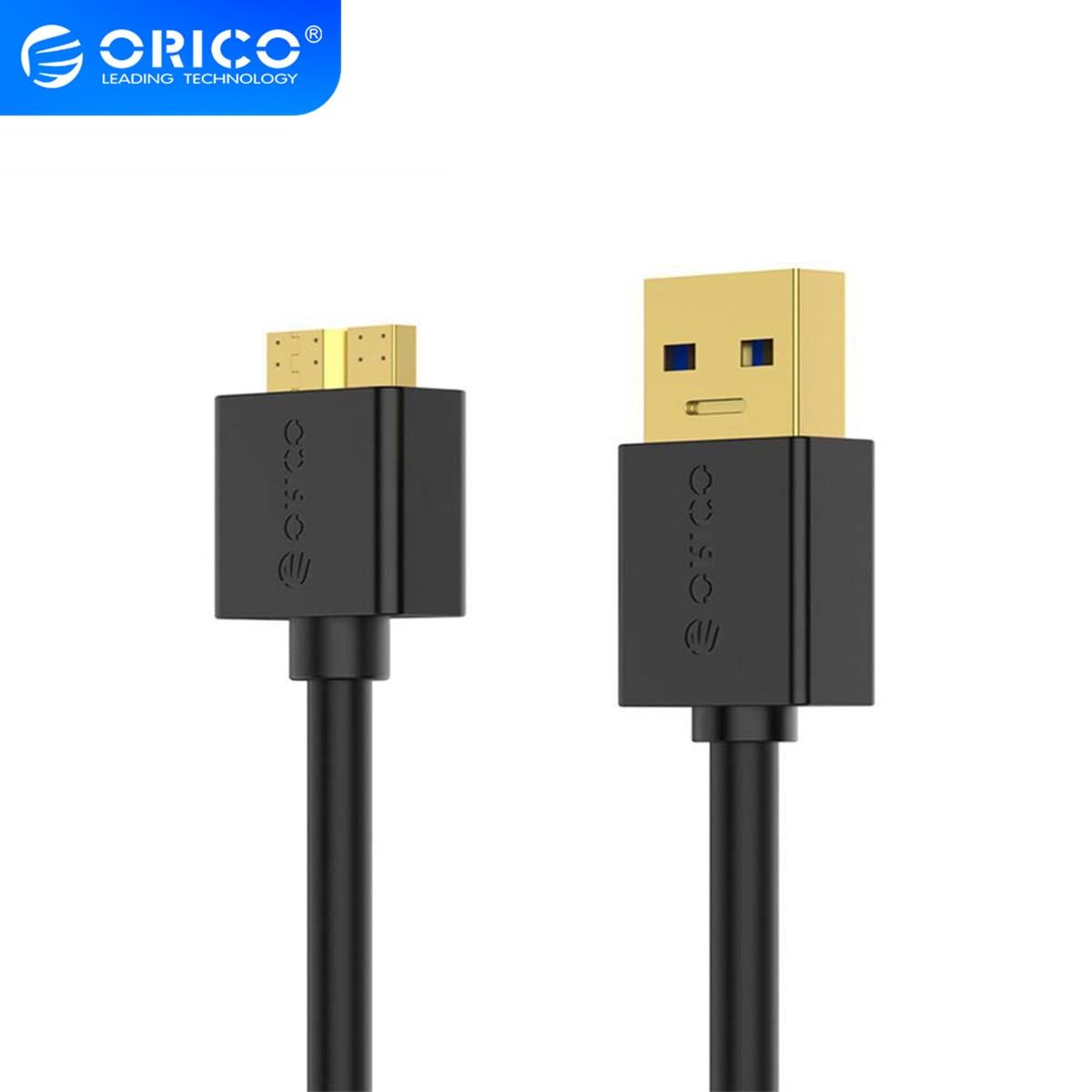 ORICO USB 3,0 MicroB A Cable de fecha tipo A para disco duro externo, Cable de transmisión de alta velocidad para ordenador portátil, 0,3 m/0,5 m/1,0 m/1,5 m/2,0 m