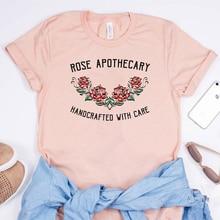 Nieuwe Leuke Rose Apotheker T-shirt Schitts Tv Show Geïnspireerd Bloem Esthetische Grafische Tee Ew David Moira Rose Meisjes Harajuku Tops