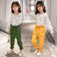 autumn spring girls clothing sets long sleeve topspants 2pcs children clothing girls sports suit kids clothes set 4 6 8 10 12 y