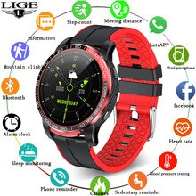 LIGE Bluetooth Call Smart Watch Women Waterproof Sports Fitness Health Tracker for Android ios reloj