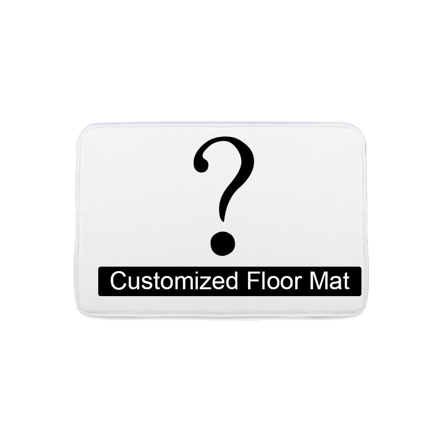 Bathroom Customized Mat Printed Bathroom Kitchen Carpets Doormats Floor Mat for Living Room Anti-Slip Tapete 40-60/50-80/45-120