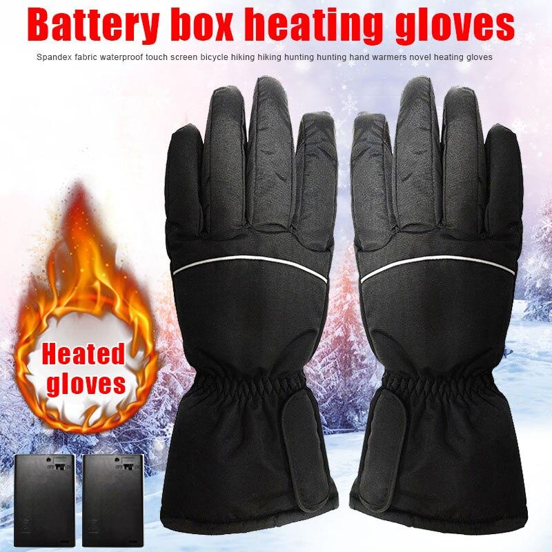 Перчатки с подогревом на электрической батарее водонепроницаемые перчатки для катания на лыжах BHD2