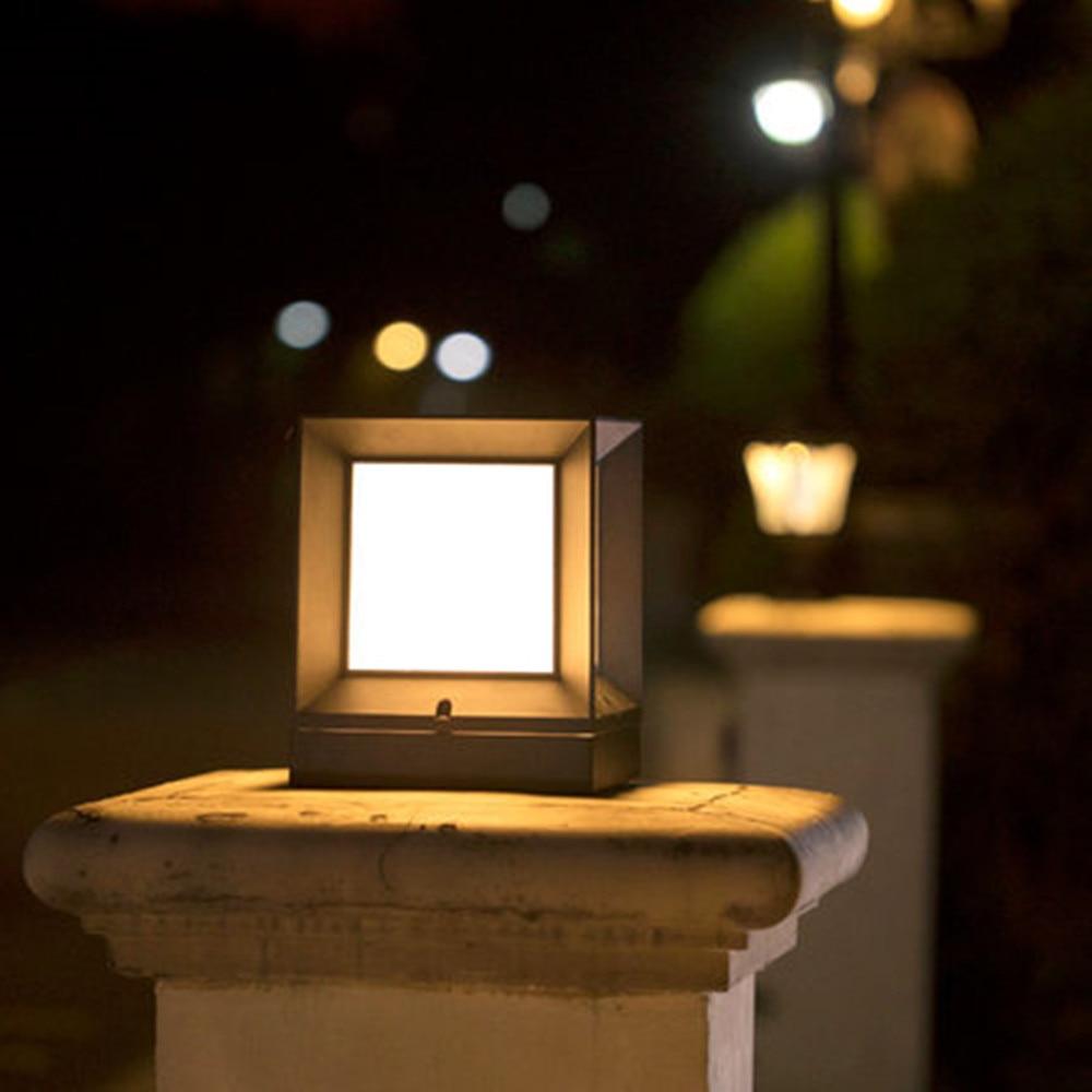 Solar LED Pillar Lights Outdoor Wall Light Control Post Lamps Garden Lamp Simple Modern Villa Gate Waterproof Solar Lighting enlarge