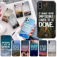 kpusagrt letter phrase inspirational words soft black phone case for iphone 11 pro xs max 8 7 6 6s plus x 5s se 2020 xr cover