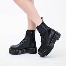 Women Winter boots Platform Boots Women Ankle Boots 2021 Women High Quality Genuine Leather Boots go