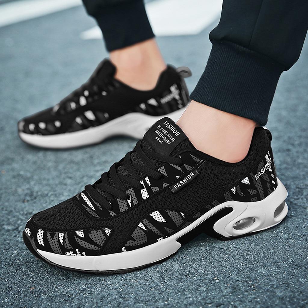Zapatos informales con cojín de aire para hombre, zapatillas deportivas de fondo...
