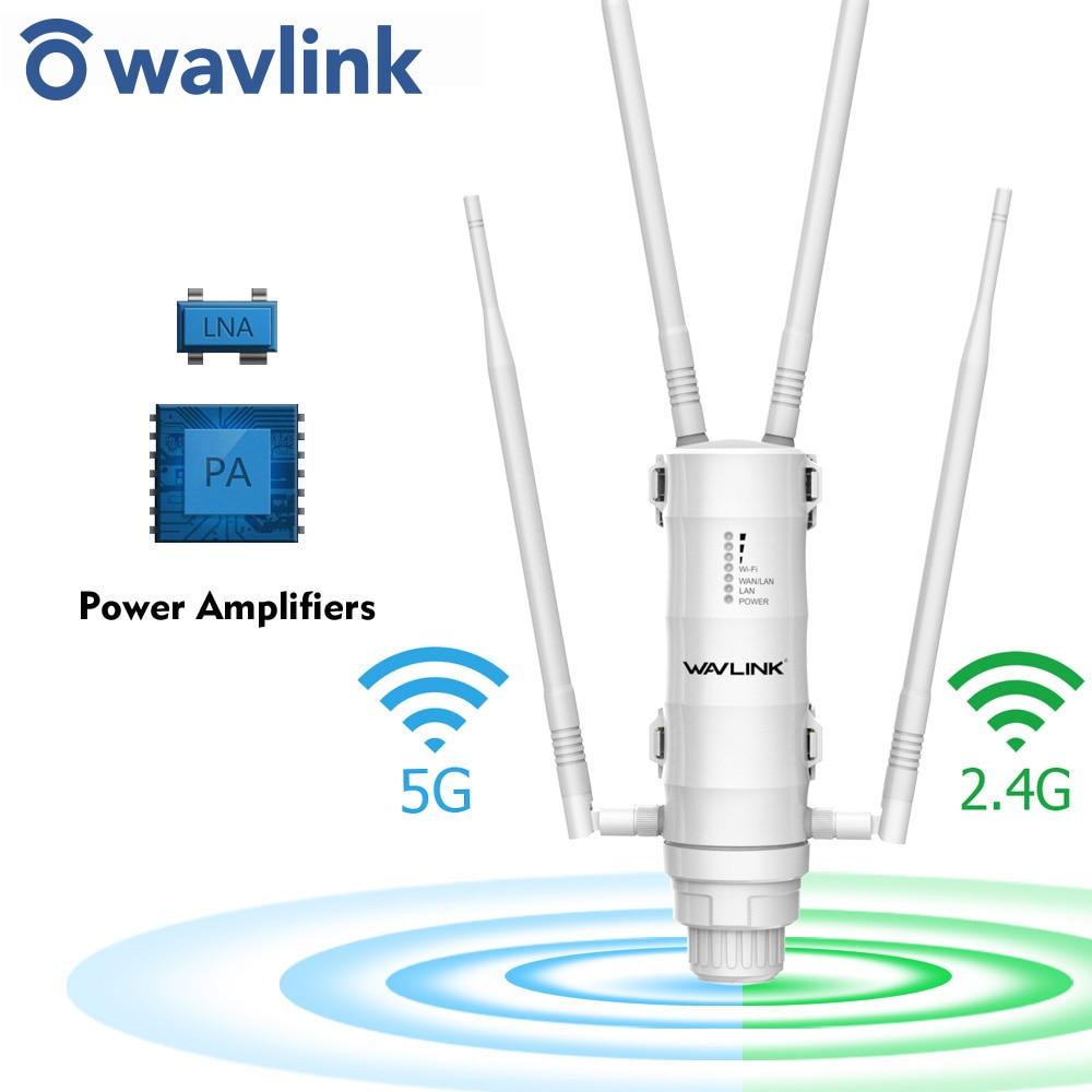 Wavlink al aire libre rango WiFi extensor de punto de acceso inalámbrico...
