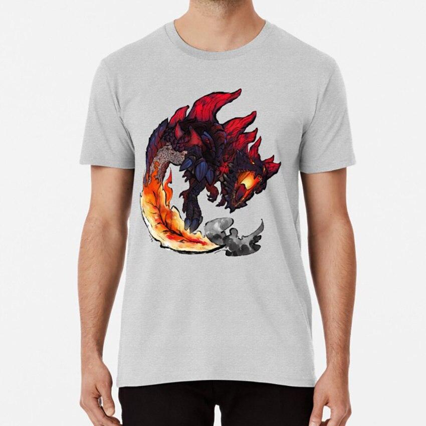 Glavenus T camisa fuego dinosaurio Trex Glavenus espada cola dragón monstruo cazador Monhun