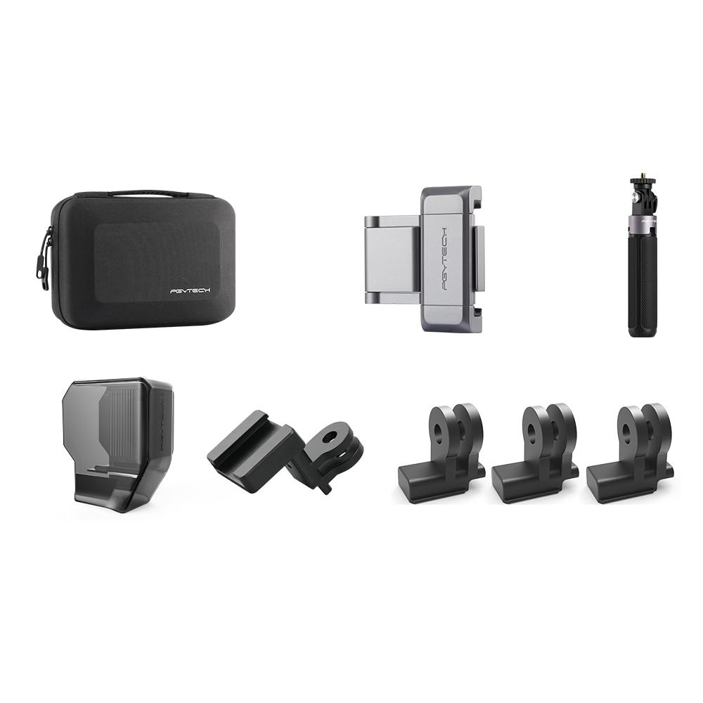 PGYTECH OSMO Pocket Vlog 6 pcs Set carrying case Phone hold plus mini Tripod Gimbal Protector Date Port Mount Cold shoe