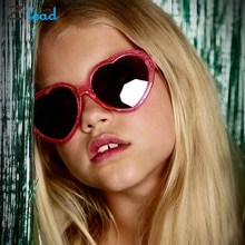 Zilead Love Shape Sunglasses UV400 Cute Glasses Shade Protect Eyes Ultra-Light For Kids Clear Lens R