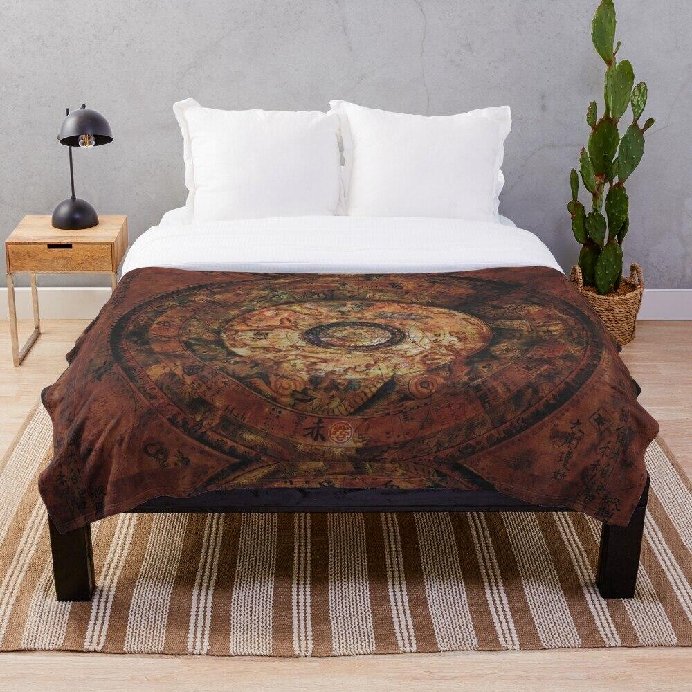 Mapa de Jack Sparrows Sao Feng réplica de mapa manta suave Sherpa manta de cama de una sola rodilla manta para siesta Oficina