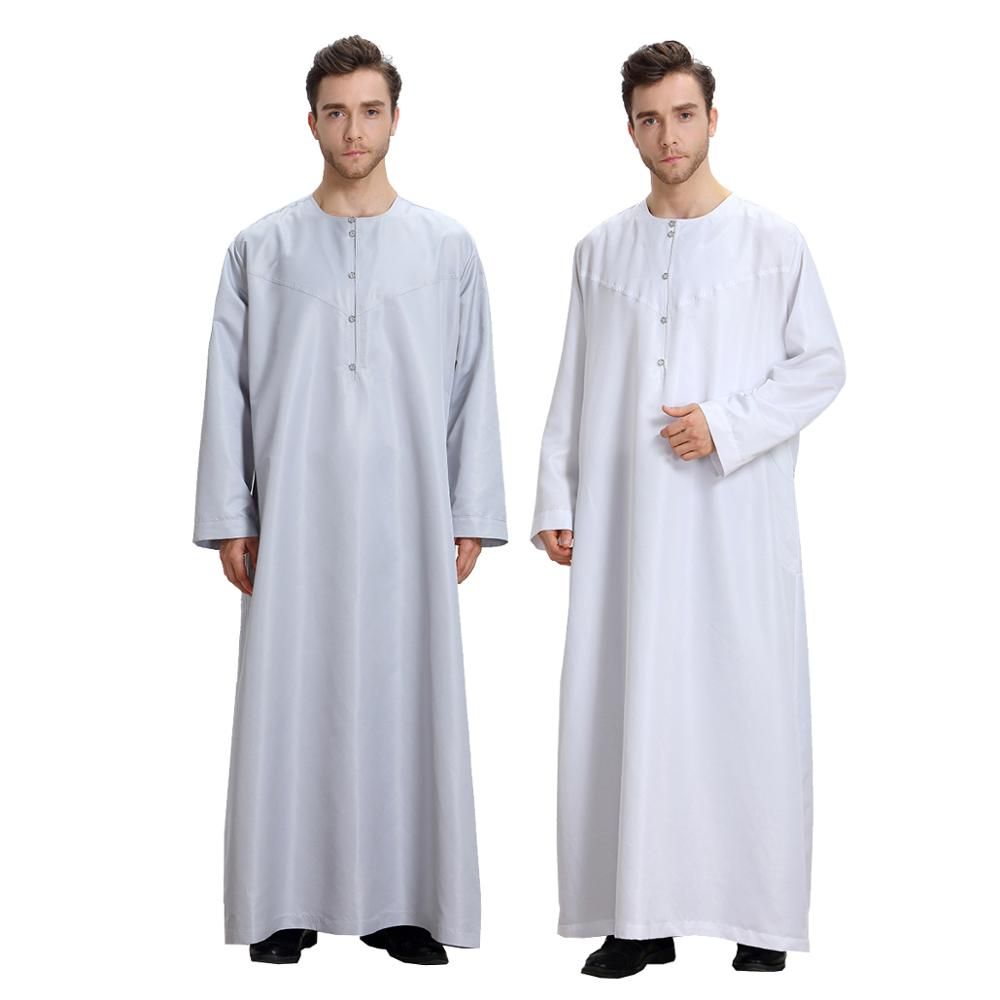 Eid Musulman De Mode Homme Man Abaya Muslim Dress Abayas Robe Saudi Arabia Kleding Mannen Kaftan Oman Pakistan Islam Clothing