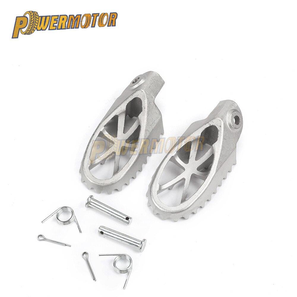 Universal pé pegs apoio para os pés do passageiro da motocicleta pedal para yamaha r1 traseiro para suzuki intruder pé pegs