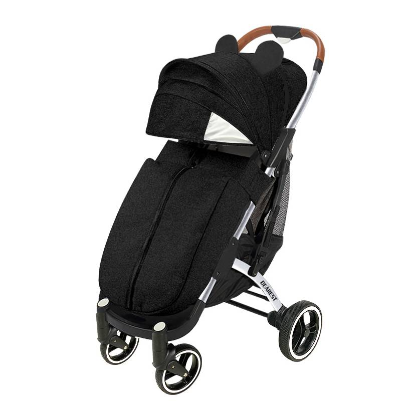 DEAREST Pro 2021 New  Baby Stroller Can Sit and Lie Super Lightweight Folding Cart Four-Wheel Shock Absorber Stroller