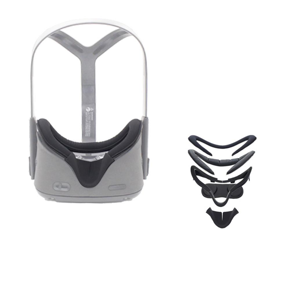 Máscara antisudor de cuero y almohadilla para la nariz sombreada para Oculus Quest VR accesorios para gafas