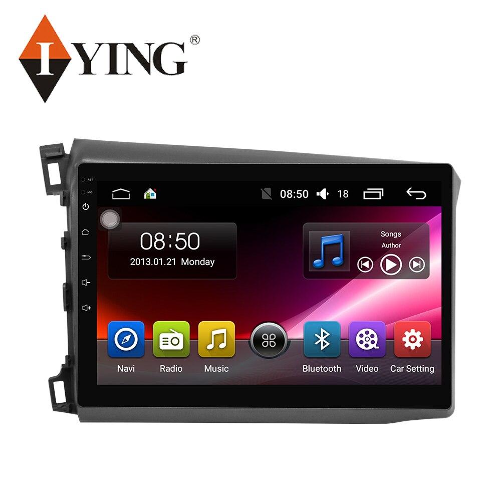 IYING Android 9 For HONDA CIVIC 2012 Multimedia Stereo Car DVD Player Navigation GPS Radio 4G WIFI 8 core autoradio car radio