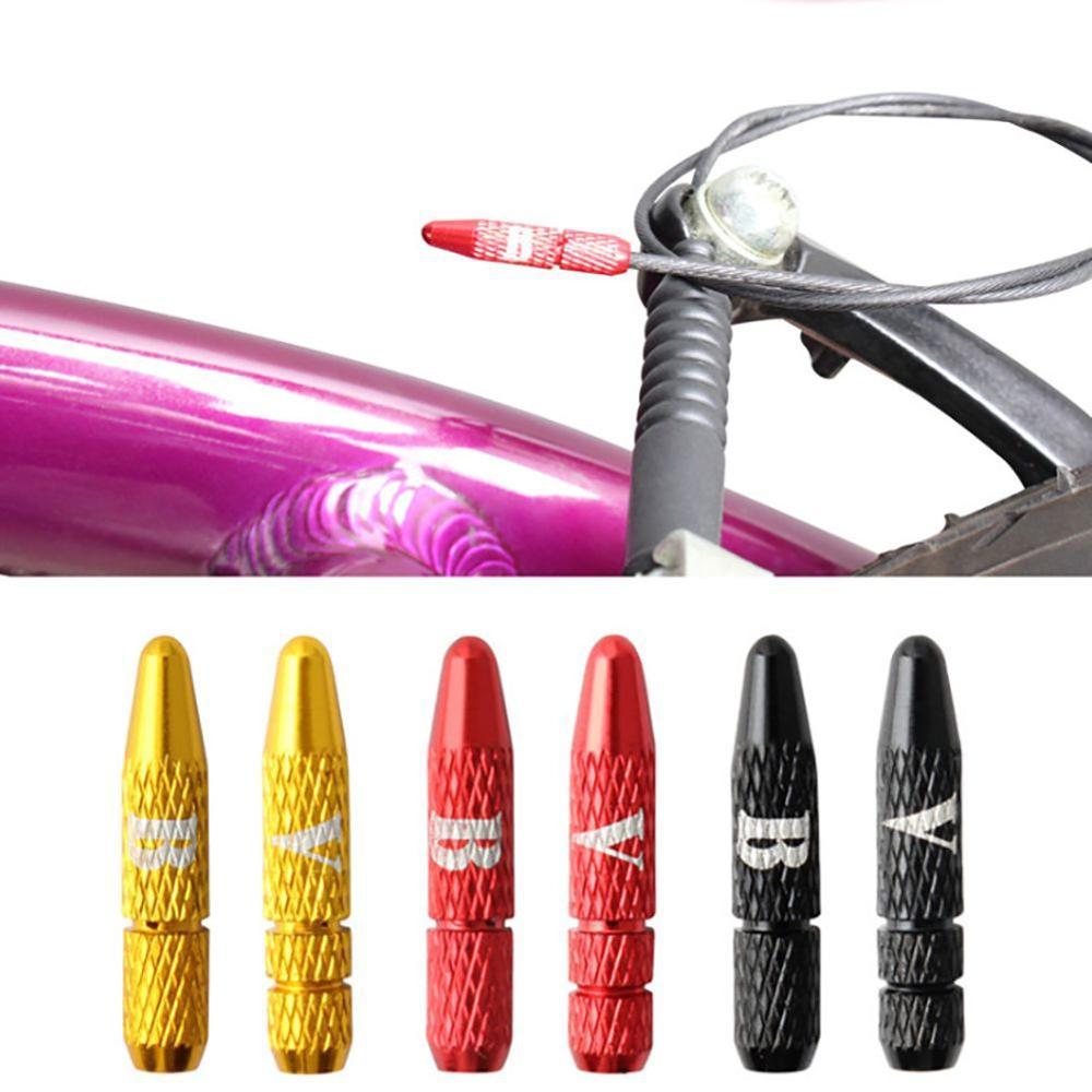 Bicicleta freio shifter cabo interno tampas de extremidade cabo dicas fio tampa de alumínio ciclismo parte turno cabos tampas de extremidade acessórios da bicicleta