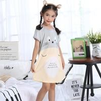 Летняя ночная рубашка для девочек, ночная рубашка с мультяшным рисунком, одежда для сна для девочек, ночная рубашка для детей 3-10 лет, детская...